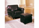 Espresso Chair and Ottoman Set - Metro - 08125