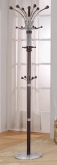 Espresso Coat Rack with Marble Base - Nata - 12265