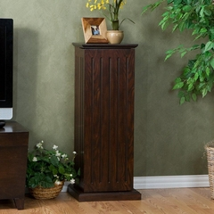 Espresso Media Storage Pedestal - Holly and Martin