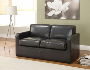 Espresso PU Sofa with Full Sleeper - Casby - 15273