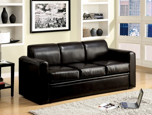 Espresso PU Sofa with Queen Sleeper - Costa - 15270