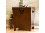 Espresso Pyramid Trunk End Table - Holly and Martin