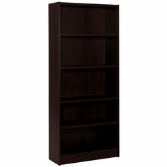 "Essentials Espresso 72"" Tall Bookcase with 5 Shelves - Nexera Furniture"