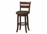 "Essex Wood Swivel Stool 30"" - Linon Furniture - 01931CHY-01-KD-U"