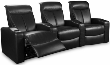 Estella Black 3 Seat Theater Seating Group - 600123-3
