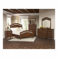 Eternity Walnut Arched Panel 5 Pc Bedroom Set - Largo - LARGO-WG-B1070-SET1