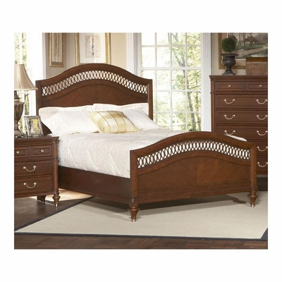 Eternity Walnut Bed with Arched Panels - Largo - LARGO-ST-B1070-X1