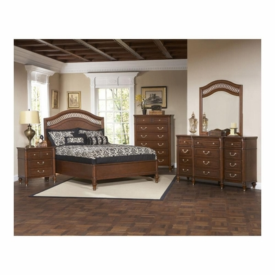 Eternity Walnut Low Profile 5 Pc Bedroom Set - Largo - LARGO-WG-B1070-SET2