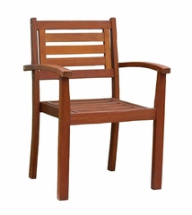 Eucalyptus Stacking Arm Chair in Natural - Merry Products - MPG-STK-CH01