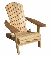 Eucalyptus Stained Simple Adirondack Chair in Natural - Merry Products - MPG-AC01FSC