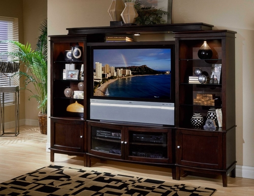Excalibur Entertainment Center Set 1 in Espresso - Encore by APA Marketing - EXR-ESET-1