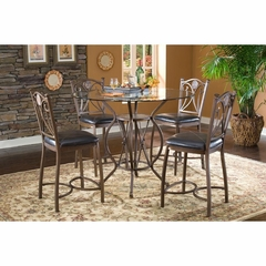 Exclaim 5 Piece Gathering Set with Glass Top - Largo - LARGO-ST-D1149A-SET