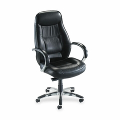 Exec. Hi-Back Chair - Black Leather - LLR60501