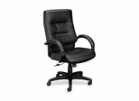 Exec. High-Back Chair - Black Frame/Black Leather - BSXVL691SP11