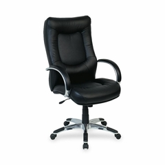 Exec. High-Back Chair - Black Leather - LLR60505