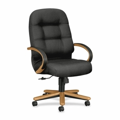 Exec High Back Chair - Charcoal/Hardwood - HON2191CNT19