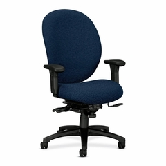 Exec High-Back Chair - Navy - HON7608BW90T