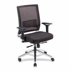 Exec. Swivel Chair - Black Mesh/Lthr - LLR90041