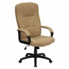 Executive Beige Patterned Fabric Office Chair - BT-9022-BGE-GG