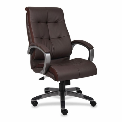 Executive Chairs - Brown/Pewter - LLR62621