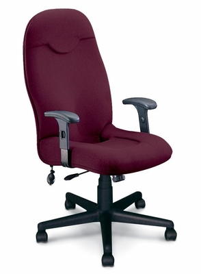 Executive Comfort High Back Chair in Burgundy - Mayline Office Furniture - 9413AG2112