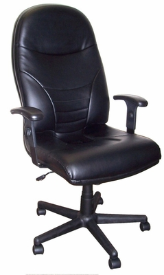 Executive Comfort High Back Leather Chair - Mayline Office Furniture - 9413AGBLT
