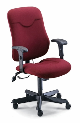 Executive Comfort Posture Chair in Burgundy - Mayline Office Furniture - 9414AG2112