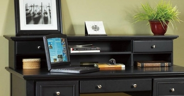 Executive Desk Hutch in Black - Home Styles - 5531-04