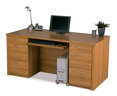 Executive Desk Set in Cappuccino Cherry - Embassy - Bestar Office Furniture - 60850-68