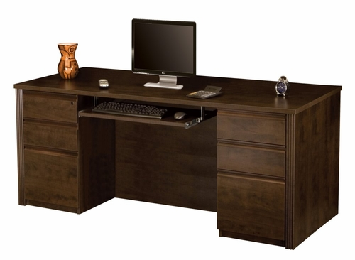 Executive Desk Set in Chocolate - Prestige Plus - Bestar Office Furniture - 99850-69