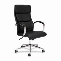 Executive High-back Chair - Black Leather - BSXVL105SB11