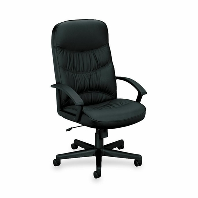 Executive High-Back Chair - Black Leather - BSXVL641ST11