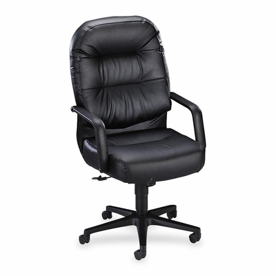 Executive High-Back Chair - Black Leather - HON2091SR11T