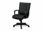 Executive High-Back Chair - Black Leather - HON2291ST11T