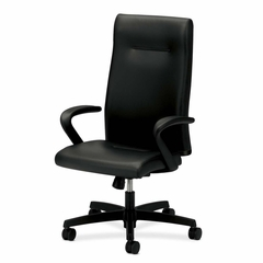 Executive High-Back Chair - Black Leather - HONIEH1FHUSQ11T