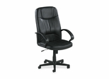 Executive High-Back Chair - Black Leather - LLR60120