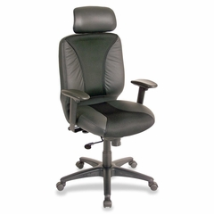 Executive High-Back Chair - Black Leather - LLR60319
