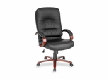 Executive High-Back Chair - Black Leather - LLR60335