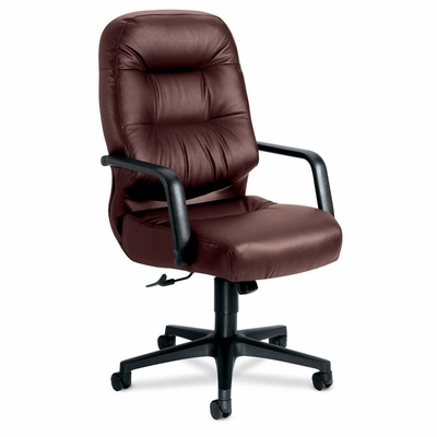 Executive High Back Chair - Burgundy Leather - HON2091SR69T