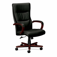 Executive High-Back Lthr Chair - Mahogany - BSXVL844NSP11