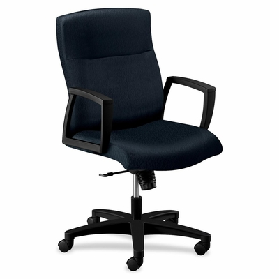 Executive Mid-back Chair - Black/Black - HON5064HTTNT10