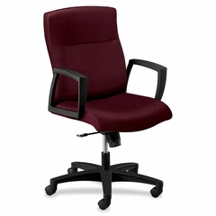 Executive Mid-back Chair - Wine/Black - HON5064HTTNT69