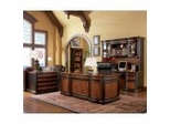 Executive Office Collection in Cappuccino / Dark Oak - Coaster