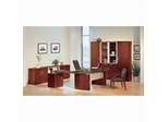 Executive Office Collection in Golden Cherry - Napoli Collection - Mayline Office Furniture