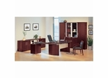 Executive Office Collection in Sierra Cherry - Napoli Collection - Mayline Office Furniture