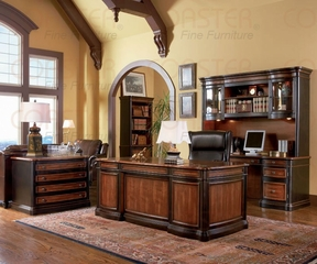 Executive Office Set in Cappuccino / Dark Oak - Coaster