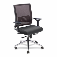Executive Swivel Chair - Black Leather - LLR90040