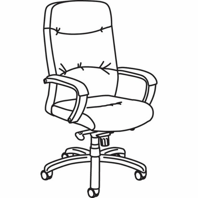 Executive Swivel Chair - Brown Cherry - BSXVL881HSP11