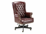 Executive Vinyl Swivel Chair - Burgundy - LLR60603