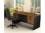 Executive Work Station in Tuscany Brown and Black - Hampton - Bestar Office Furniture - 69400-63
